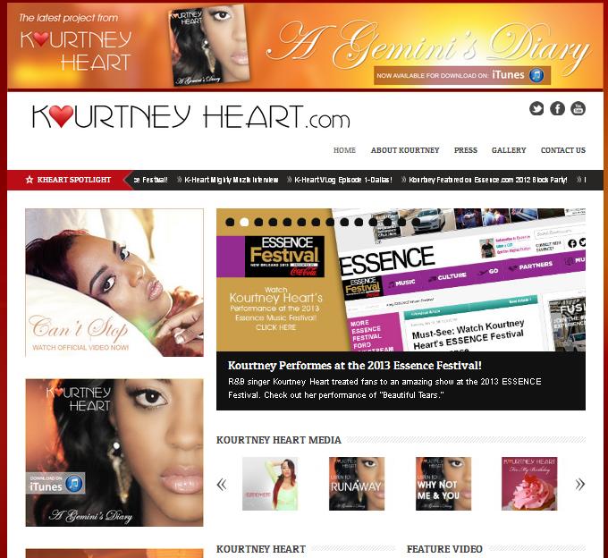 Kourtney Heart Website